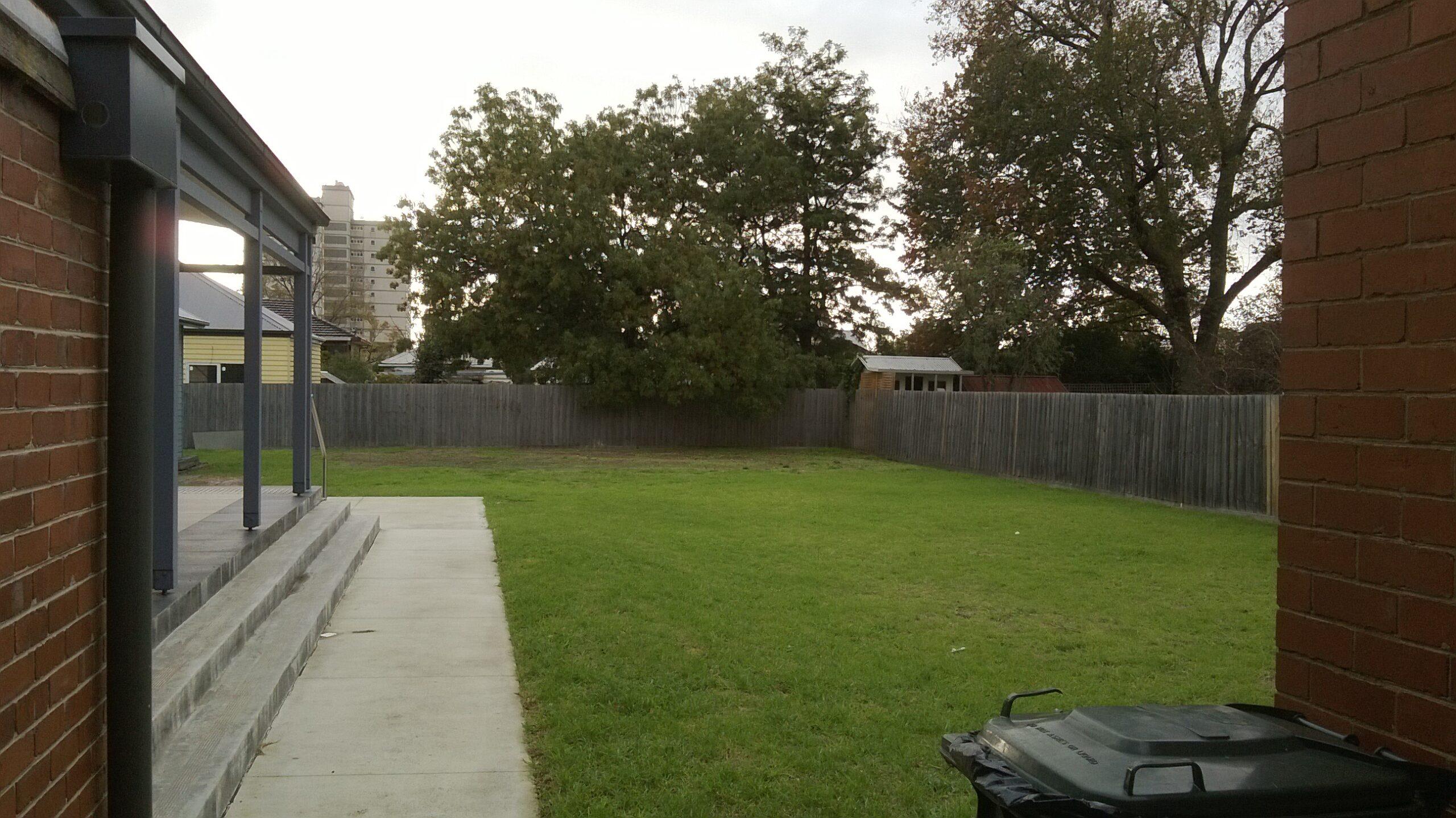 The verandah and lawn garden